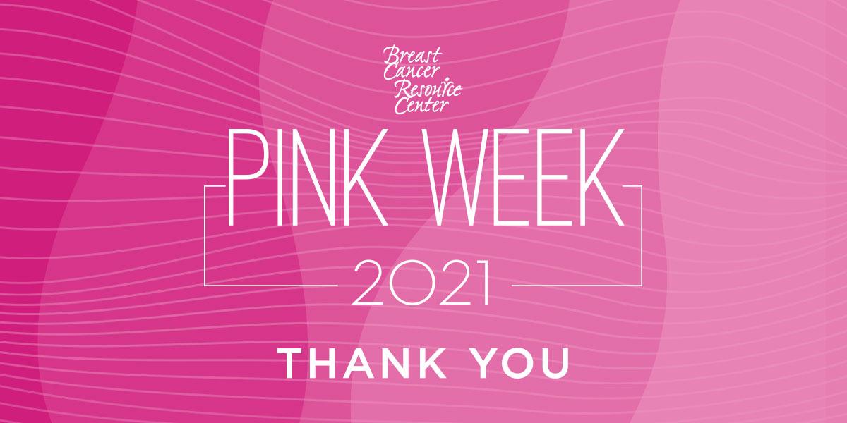BCRC PINK WEEK Thank you